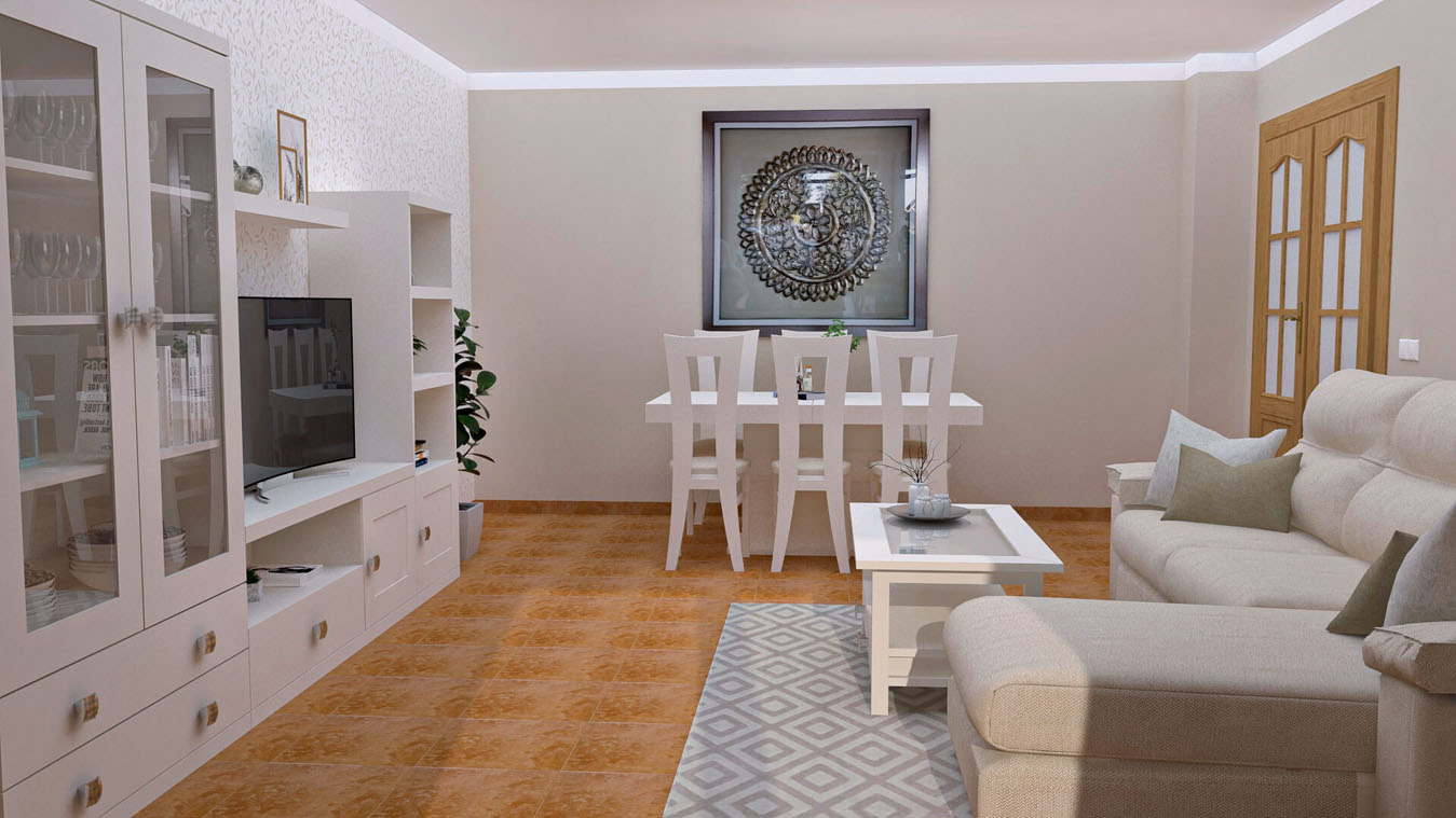 Salón modelo GRANITO SOLAPADO - Ref: 0340