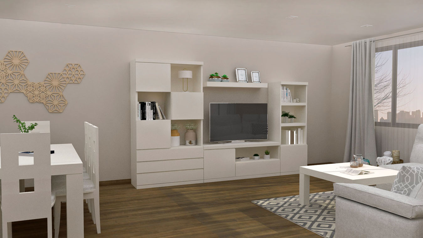 Salón modelo GRANITO SOLAPADO - Ref: 0348