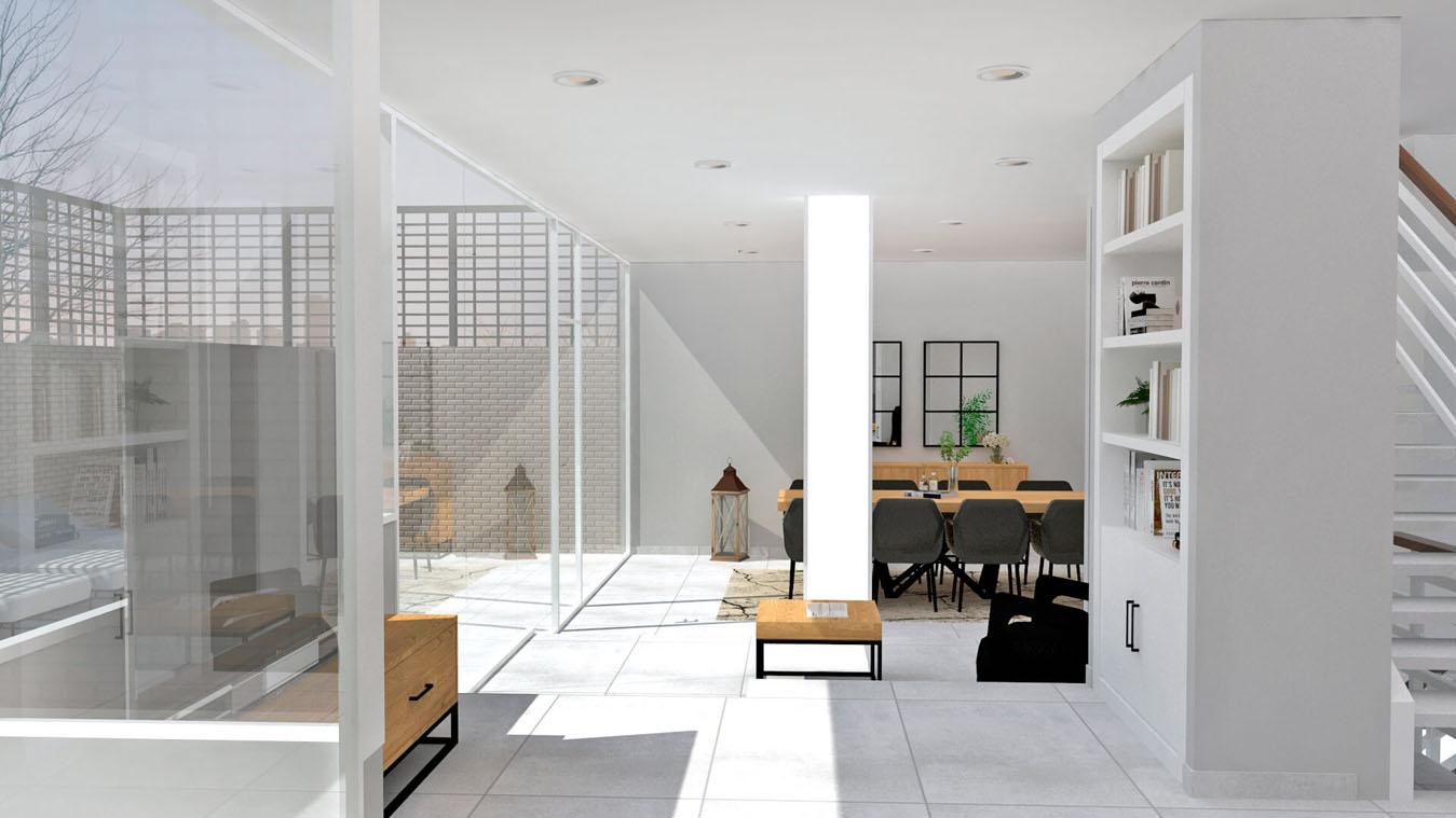 Salón modelo INDUSTRIAL - Ref: 0002
