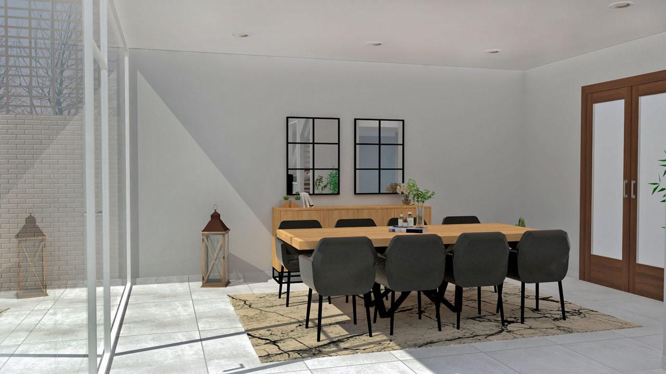 Salón modelo INDUSTRIAL - Ref: 0003