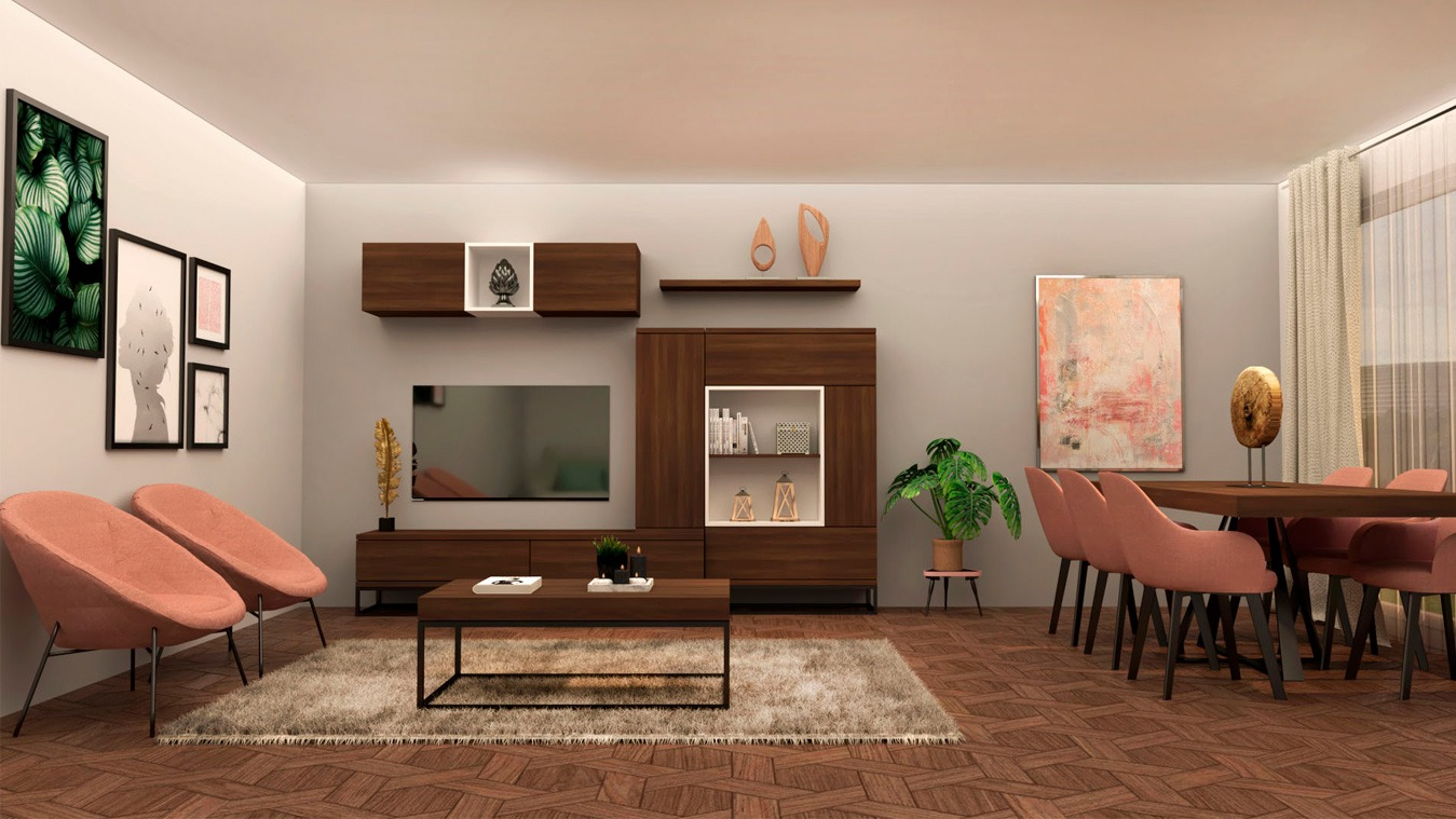 Salón modelo INDUSTRIAL - Ref: 0006