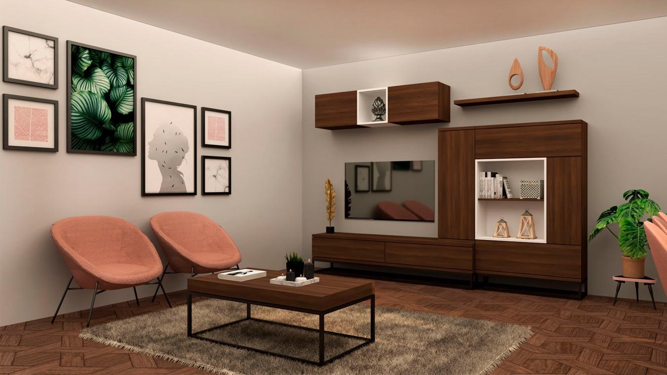 Salón modelo INDUSTRIAL - Ref: 0007