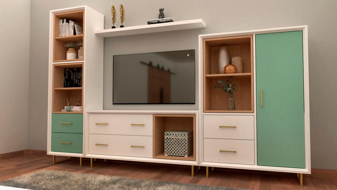Salón modelo INDUSTRIAL - Ref: 0012
