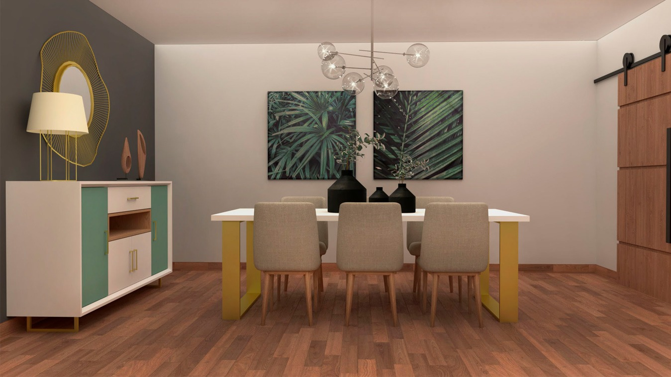 Salón modelo INDUSTRIAL - Ref: 0014