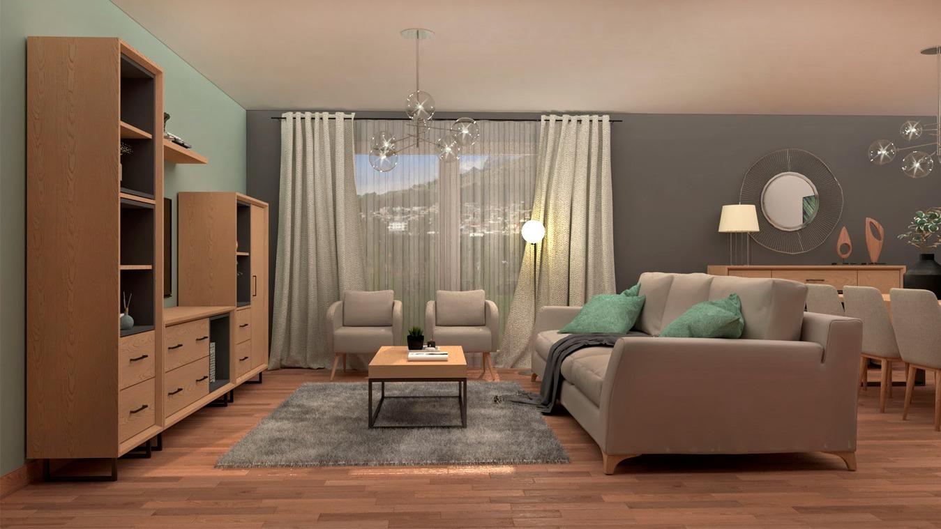 Salón modelo INDUSTRIAL - Ref: 0015