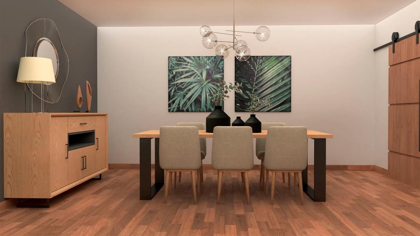 Salón modelo INDUSTRIAL - Ref: 0017